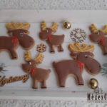 Karácsonyi mézeskalács szarvasok